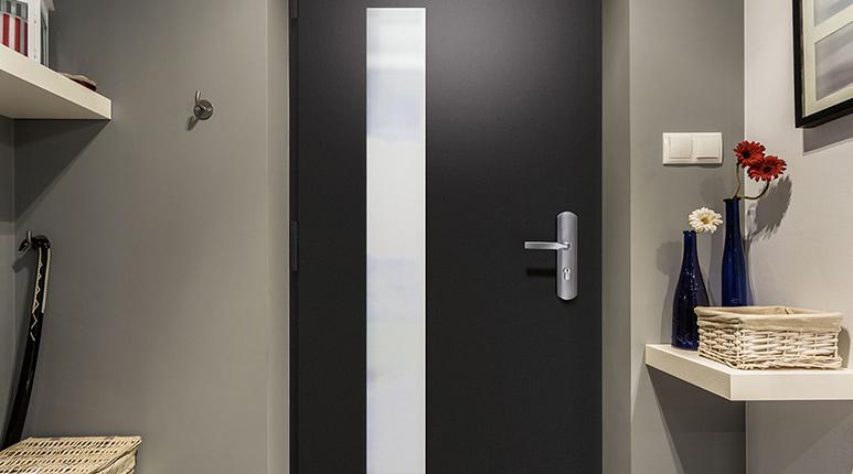 Porte Blinde Maison Finest Charmant Porte Blinde Dans Porte D Accs - Porte placard coulissante jumelé avec portes blindées fichet prix
