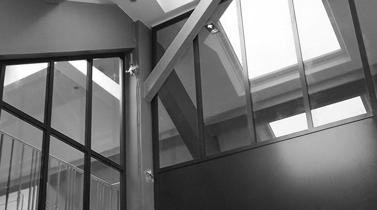 Verri res style atelier d 39 artiste en acier serrurerie - Verrieres interieur style atelier ...