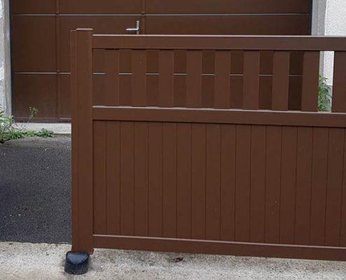 portail aluminium avec récupérateur de pente, Oise, Creil