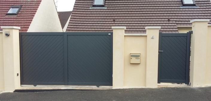 Portail Aluminium Verneuil, Oise