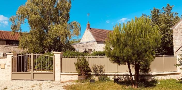 Portail aluminium Courteuil, Oise