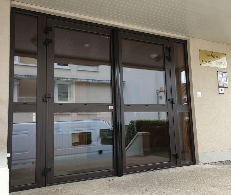 Porte Aluminium Hall d'Entrée Crepy en Valois Oise