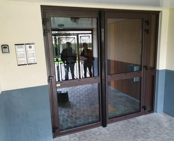 Porte Aluminium Hall d'Entrée Crepy en Valois Oise 2