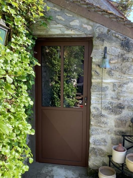 Porte acier Vitrée, Villers Saint Frambourg, Oise