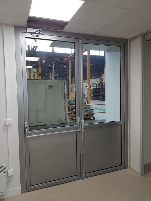 Porte acier vitrée industrie Oise