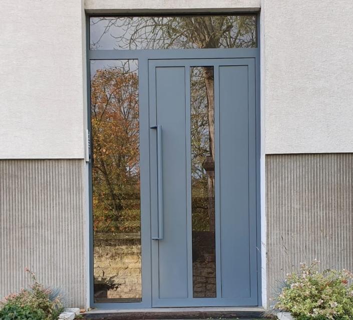 Porte d'Entrée de Hall Acier - Chantilly - Oise