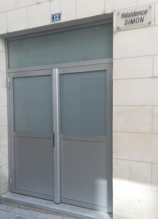 Porte d'Entrée de Hall Acier - Compiègne