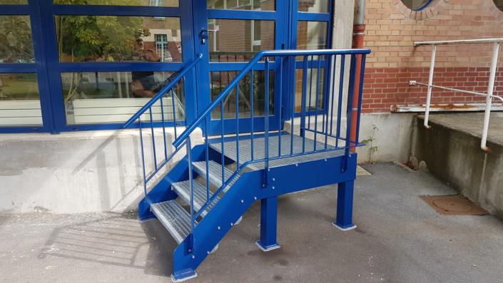 Escalier acier, Liancourt, Oise