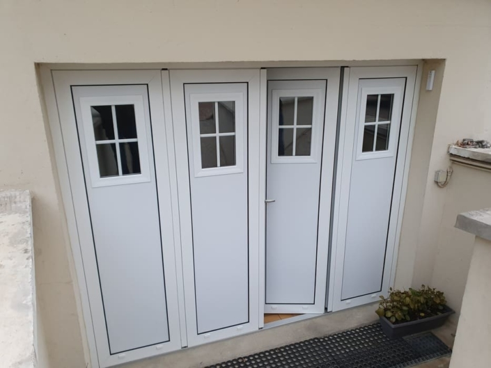Porte de garage battante, Nointel, Oise