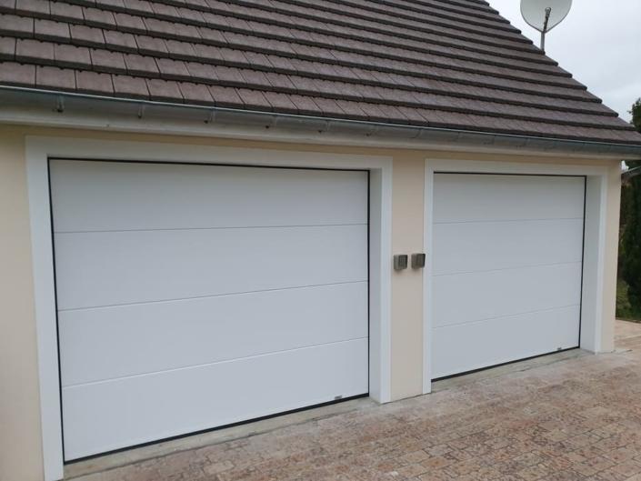 Porte de garage sectionnelle, Nointel, Oise