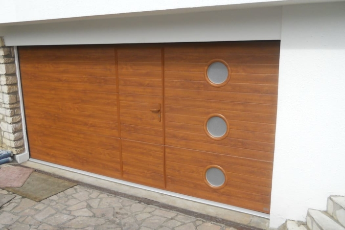 Porte de garage sectionnelle, Villers Saint Paul, Oise